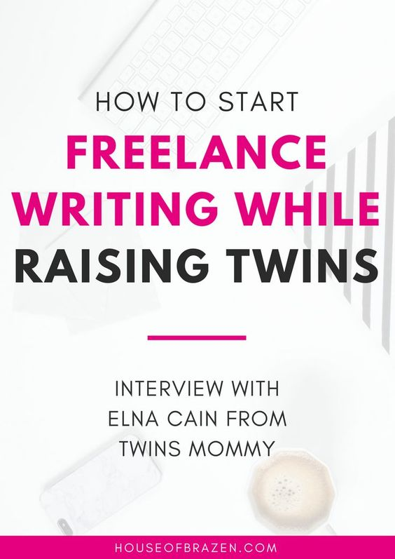 In this interview you'll learn how Elna Cain started Freelance Writing while raising her twins and then started another super successful blog! Click here!