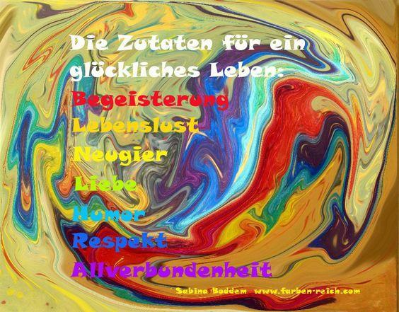 Sieben bunte Zutaten für ein glückliches Leben in einer Glückssuppe - Guten Appetit - www.farben-reich.com