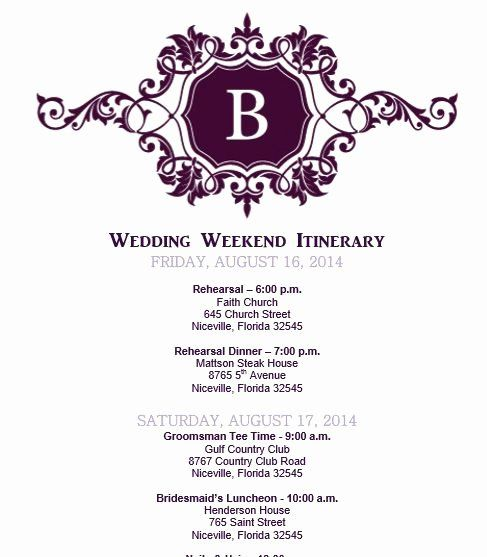 Wedding Weekend Itinerary Template Free Fresh Wedding Itinerary Wedding Itinerary Template Br Wedding Weekend Itinerary Wedding Itinerary Wedding Day Itinerary