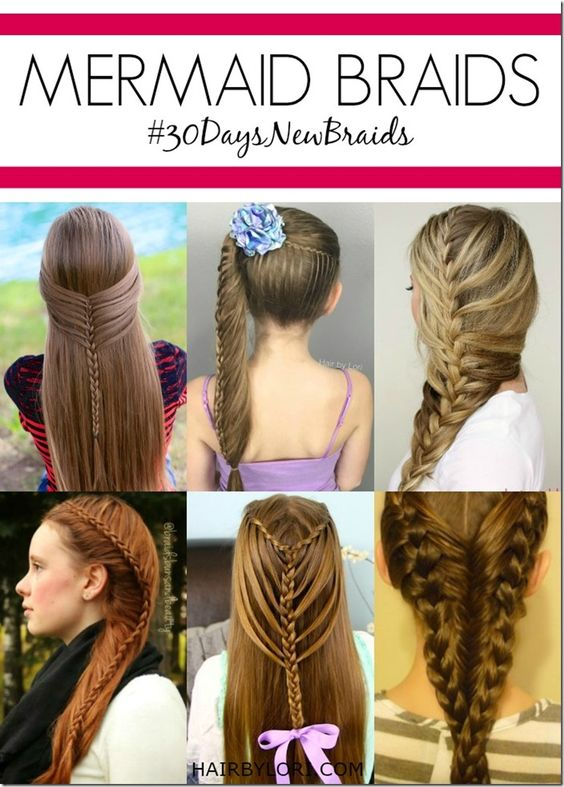 Mermaid braid tutorials - I love these hairstyles!  They are so pretty and…