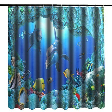 Pretty Girl Polyester Waterproof Fabric Bathroom Shower Curtain Home Decor Set