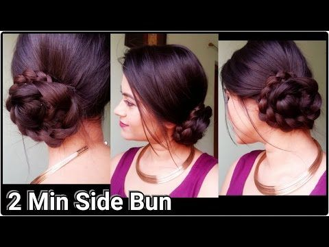 Trendy Hairstyles For Sarees Will Improve The Look Especially When You Are Dressed Up For Special Occasions E Medium Hair Styles Hair Styles Indian Hairstyles