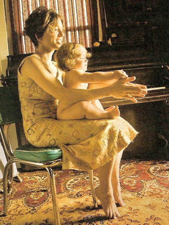 Ani Difranco & her daughter, Petah.