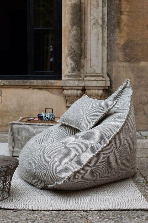 Scandinavian Interior Design: Sail Pouf Ottoman | Bean Bags, Beans and Bags