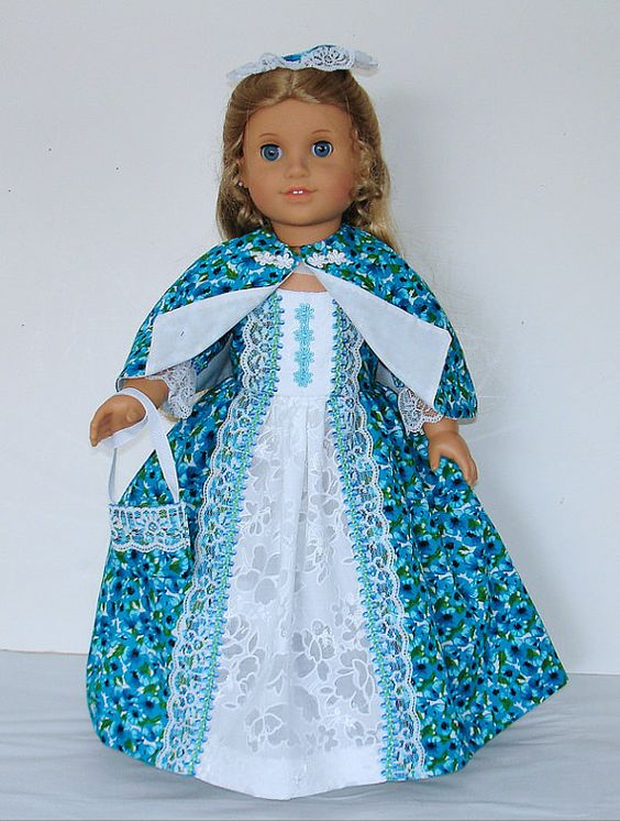 Teal and white Tea dress Created for by MargaretteDesigns4AG