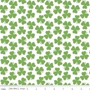 Riley Blake Designs - Holiday Banners - Clover in White