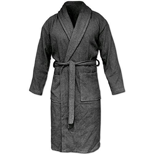 XL Bademantel mit Kapuze Damen Saunamantel für Frauen Baumwolle Morgenmantel S