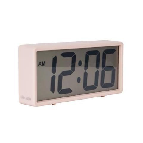 Karlsson Digital Alarm Clock In Pale Pink Alarm Clock Retro