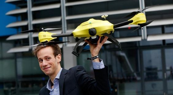Ambulance drone is a flying defibrillator with fast response time