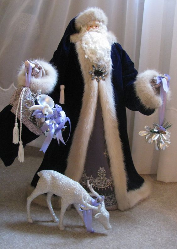 Father Christmas Doll Purple Santa with by FatherChristmasJoy