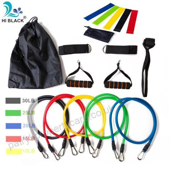 New 14Pcs Resistance Bands Set Yoga Exercise Fitness Band Rubber Loop Tube
