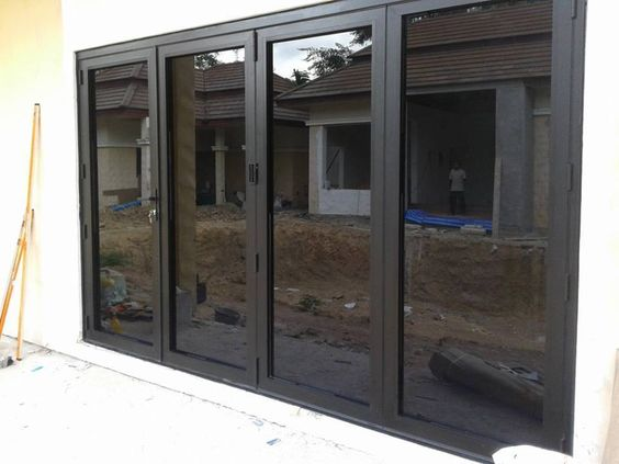 Aluminum Bifold Doors 1 Set 4 3 1 Right Side Sliding Bifold Doors Onto Patio Bifold Doors Doors