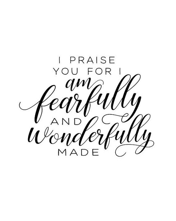 Psalm 139 | I praise you for I am fearfully and wonderfully made| Psalm 139 printable wall art| Psal