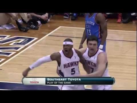 Josh Smith delivers NASTY package to Mr. Serge Ibaka | March 2012