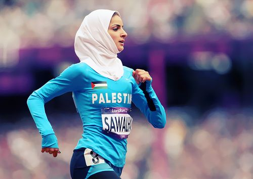 Woroud Sawalha is one of the two women who are the first ever to represent Palestine at the Olympic games. In fact the 2012 games mark the first time every country sent women athletes. A huge step.