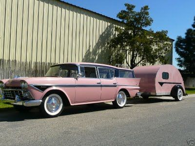 Classic car and trailer...
