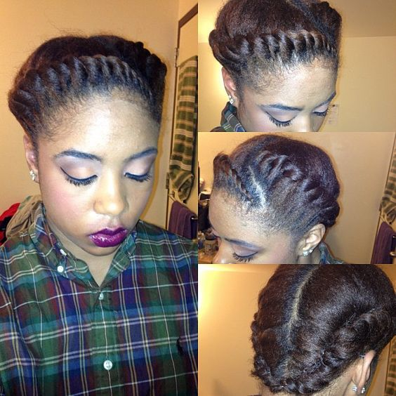 Marvelous Protective Styles Relaxed Hair Health And Jumbo Braids On Pinterest Hairstyles For Men Maxibearus