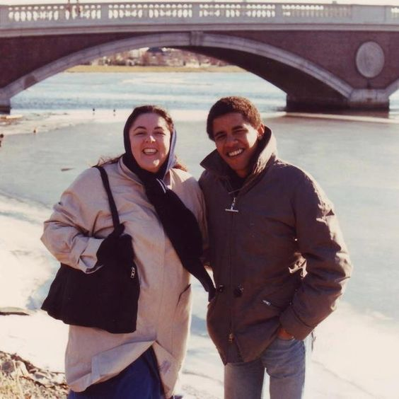 Barack with his mother