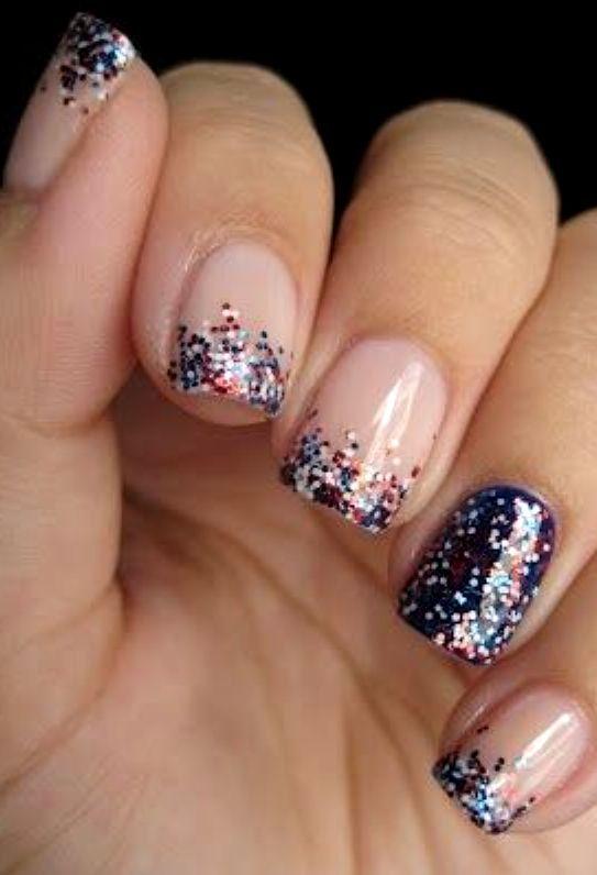 Glitter-on-nails