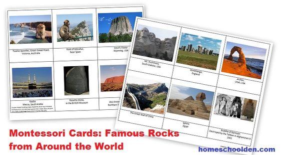 FamousRocks-MontessoriCards