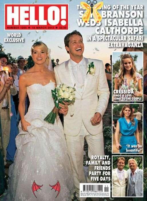 Exclusiva Mundial En Hello La Impresionante Boda Del Hijo Del Magnate Richard Branson Sam Con Isabella Calthorpe Wedding Of The Year Wedding Hello Magazine
