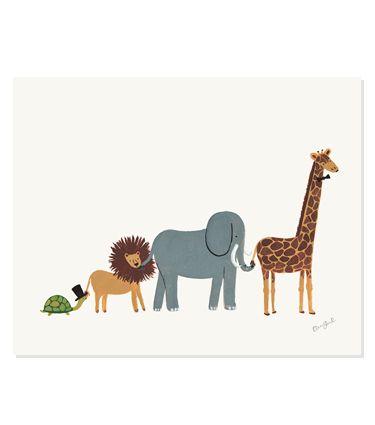 Animal Parade Print