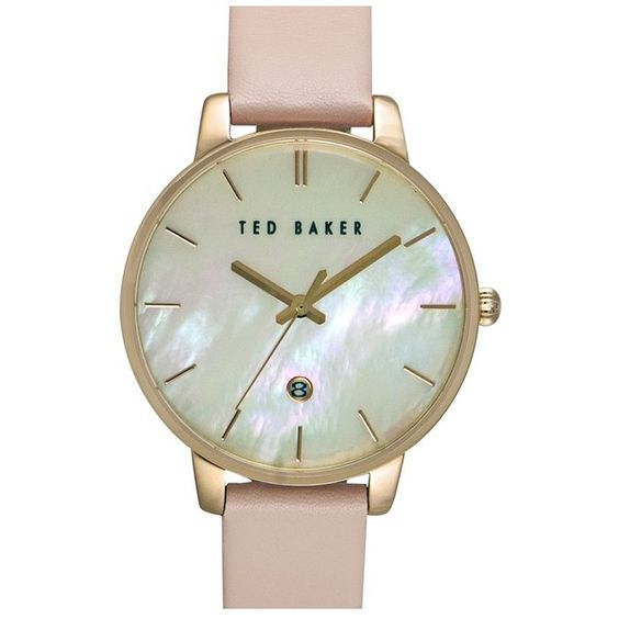 Women's Ted Baker London Leather Strap Watch, 40Mm (2.188.725 IDR) ❤ liked on Polyvore featuring jewelry, watches, ted baker, charm watches, leather strap watches, charm jewelry and ted baker watches
