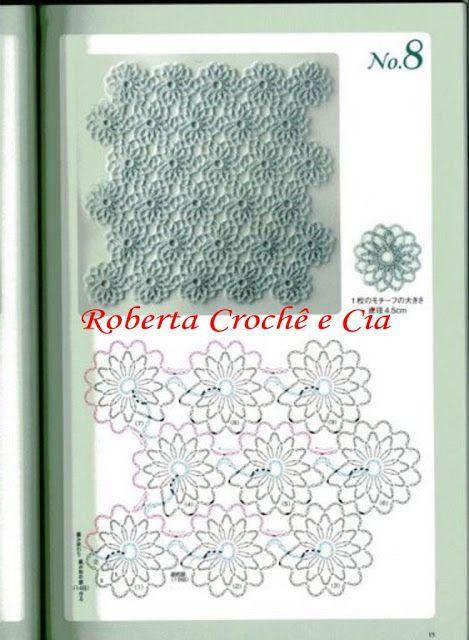 CROCHÊ ...Arte com fios: SQUARES / QUADROS DE CROCHE