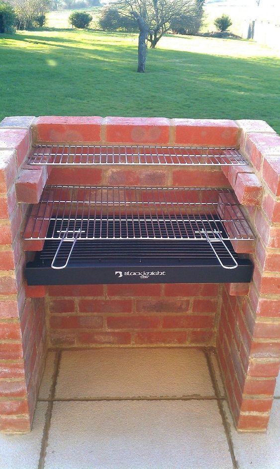 Build your own brick barbecue | Arka bahçeler, Tuğlalar