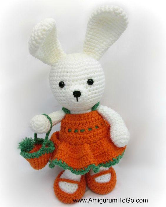 Amigurumi Bunny In Dress : Carrot Dress For Dress Me Bunny ~ Amigurumi To Go ...
