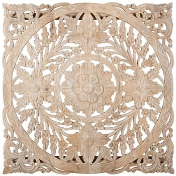 Whitewashed Carved Mango Wood Wall Art 102x102 On Maisons Du Monde Take Your Pick From Our Furniture And Access Wood Wall Art Mango Wood Wall Decor Wood Wall