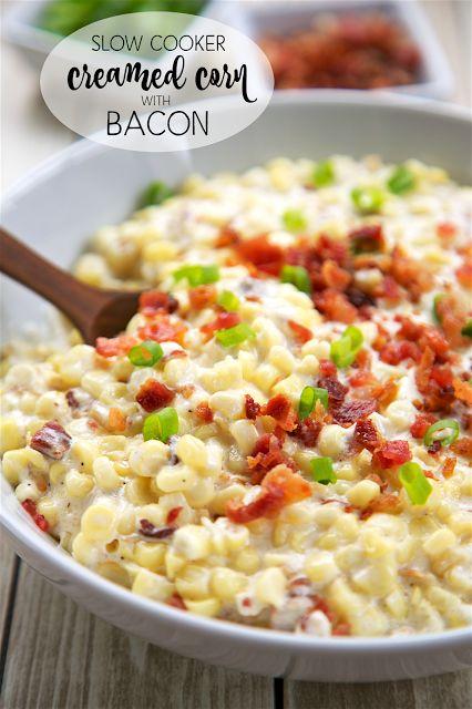 Slow Cooker Creamed Corn with BaconReally nice recipes. Every  Mein Blog: Alles rund um die Themen Genuss & Geschmack  Kochen Backen Braten Vorspeisen Hauptgerichte und Desserts # Hashtag