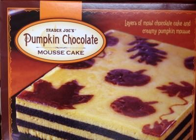 Pumpkin Chocolate Mousse Cake | Trader Joes easy, healthy, quick ...