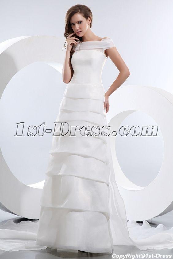 Gorgeous Off Shoulder Wedding Dress Mature Brides:1st-dress.com