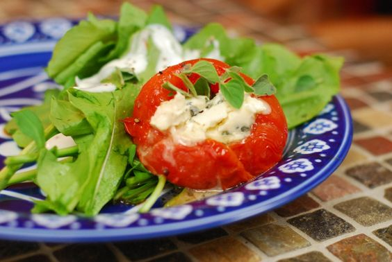 Grilled Blue Cheese and Herb Stuffed Tomatoes...Bring it on!