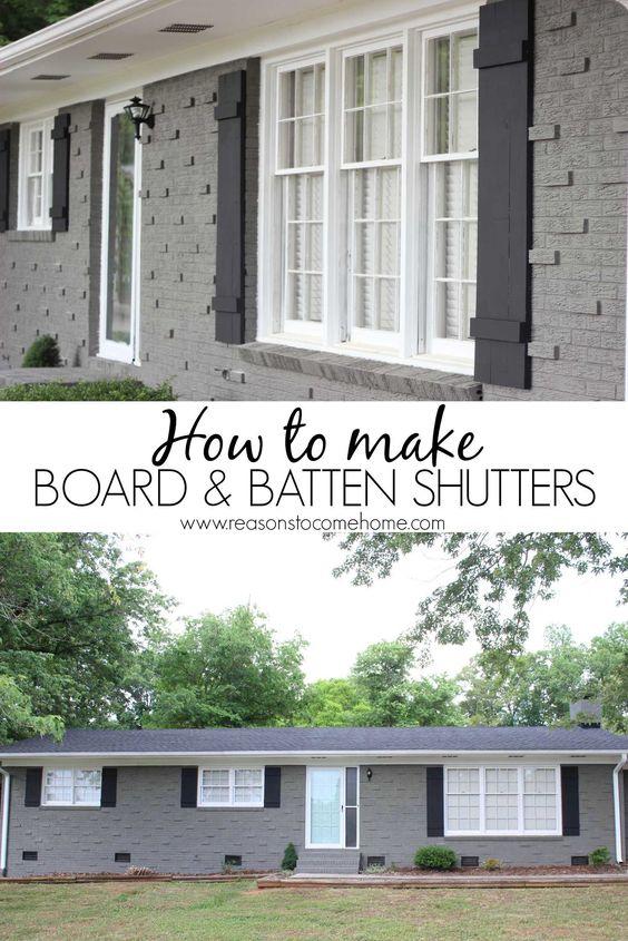 "DIY Board and Batten Shutters ""Popular Pins"""