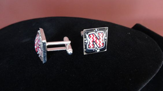Go Big Red Nebraska Cornhuskers Cufflinks UNL by BrunosBling, $12.00