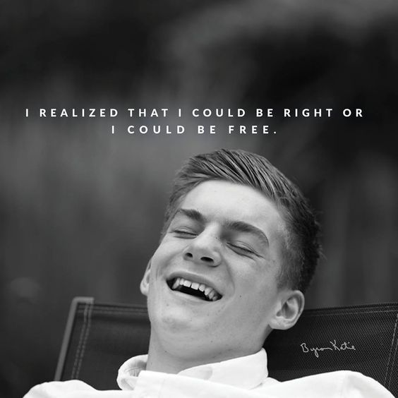 I realized that I could be right or I could be free