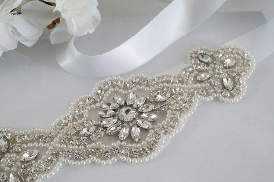 Wedding Belt, Bridal Belt, Sash Belt, Wedding Dress Sash, Bridesmaid Sash Belt - Style 169