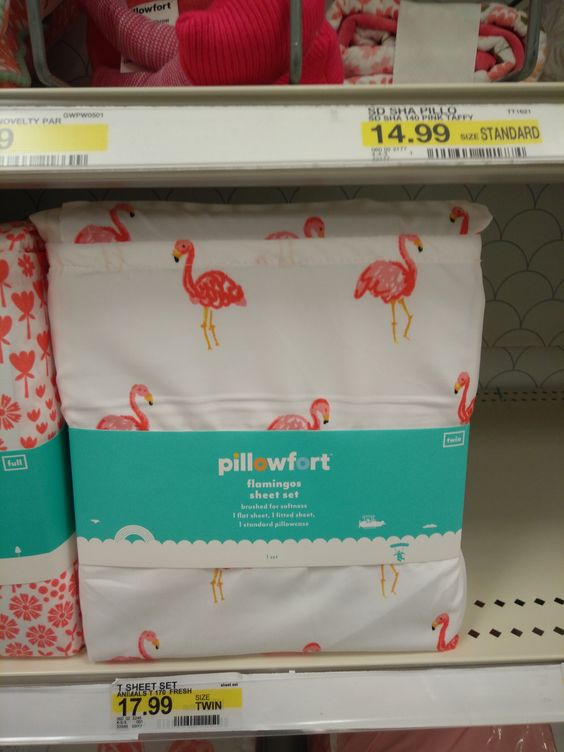 Pink flamingo sheets at Target!