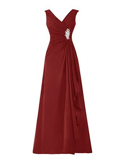 Diyouth Long Chiffon Pleated Ruffles Mother of the Bride Dress Burgundy Size 8 Diyouth http://www.amazon.com/dp/B00TX56LHE/ref=cm_sw_r_pi_dp_F2.Mvb0BS3VDQ
