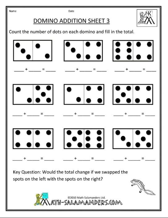 Domino Addition Worksheet For Preschool Kindergarten Math Worksheets Free Kindergarten Subtraction Worksheets Kindergarten Math Free