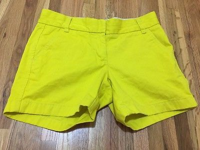 J. Crew Broken In Chino Lime Green Shorts Women's Sz 2*