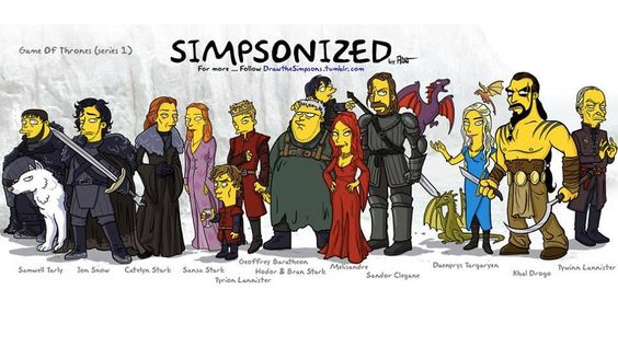 Simpson Game of Thrones characters