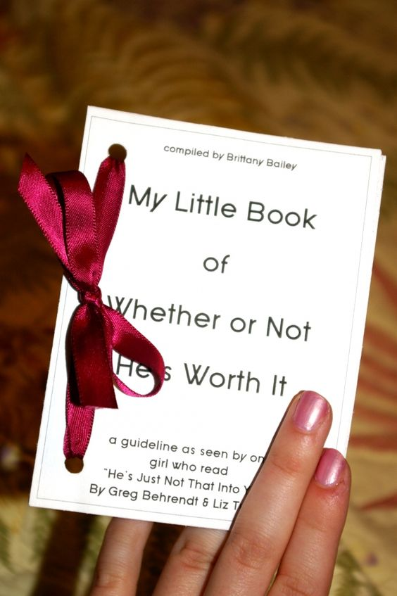 My Little Book of Whether or Not He's Worth It... This is great.: