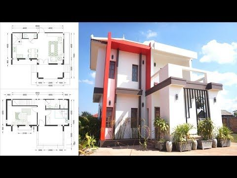 8x7m Sketchup Home Designed By Sam Phoas Architect This Villa Is Modeling With 2 Stories Level Hom House Design House Construction Plan House Designs Exterior