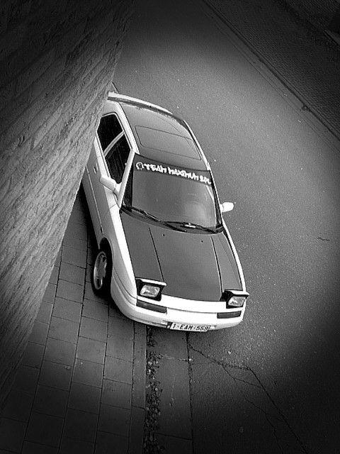 Mazda 323f with Plasti Dip.