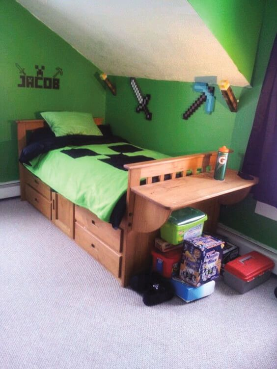 22 Minecraft Bedroom Ideas Taken From Pinterest The Architecture Designs Boys Minecraft Bedroom Minecraft Room Minecraft Bedroom