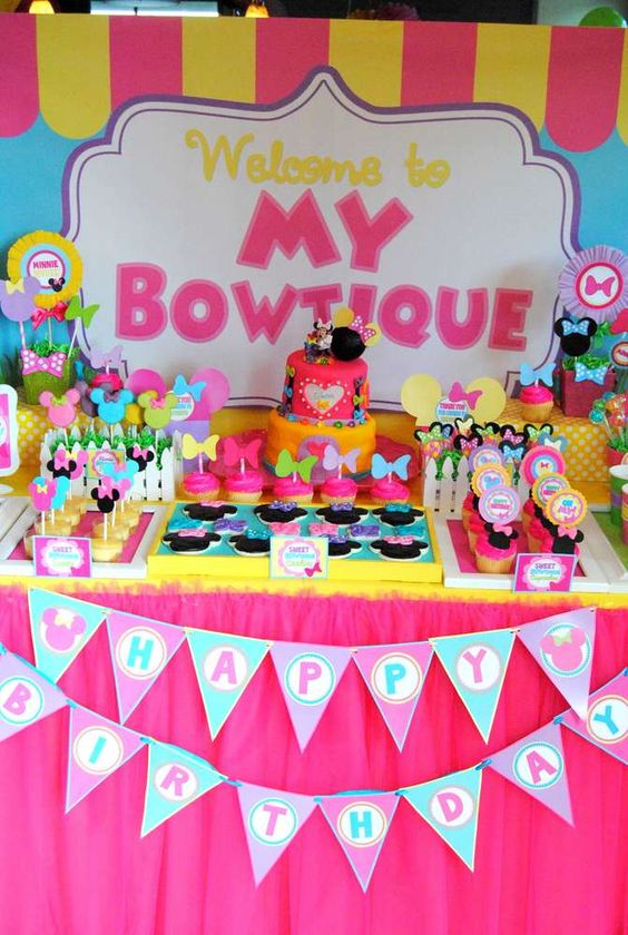birthday party ideas minnie mouse and party ideas on pinterest. Black Bedroom Furniture Sets. Home Design Ideas