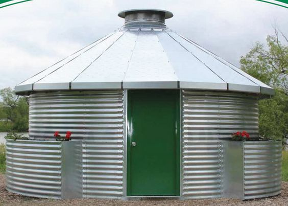 Architecture grain silo homes green door prefabricated for Silo house kit